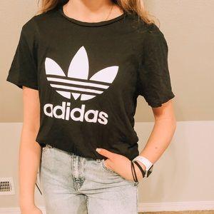 Black Adidas tee with logo